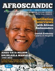 Magazine that Connects  and Celebrate Africa and Scandinavia