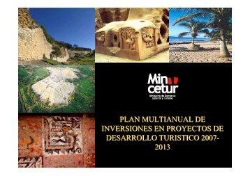 plan multianual de inversiones en proyectos de desarrollo turistico ...