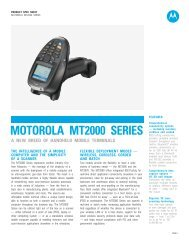 Motorola MT2000 Series - A new breed of handheld mobile terminals