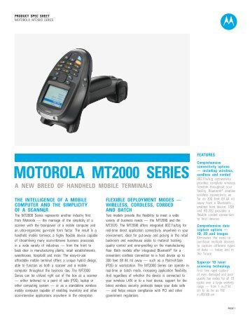Motorola MT2000 Series - A new breed of handheld mobile terminals