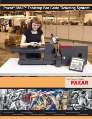 Paxar® 9860TM Tabletop Bar Code Ticketing System - Mobile ID ...