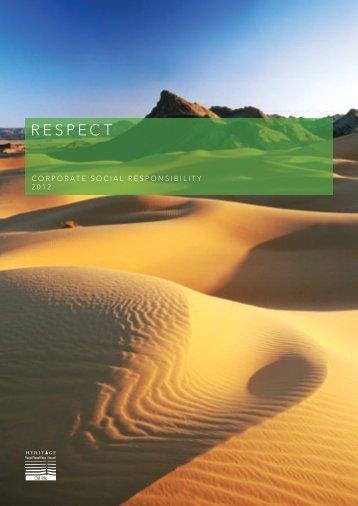 Corporate Social Responsibility Report 2012 - Heritage Oil
