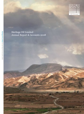 Heritage Oil 2008 Annual Report