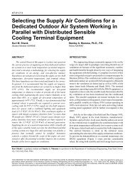 Selecting the Supply Air Conditions for a Dedicated Outdoor Air ...