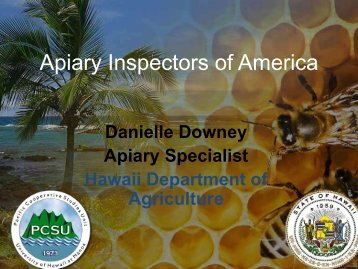 Apiary Inspectors of America Report - National Plant Board