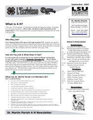 St. Martin Parish 4-H Newsletter
