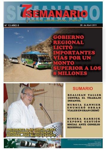 BOLETIN 25 - Gobierno Regional La Libertad