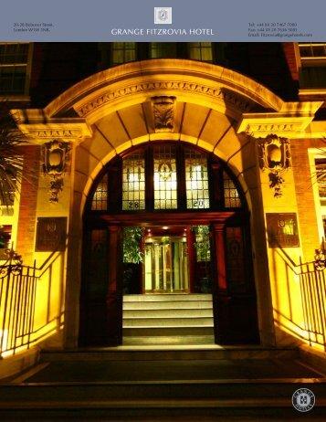 GRANGE FITZROVIA HOTEL - Grange Hotels