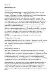 Protokoll 2009 - SG Dortmund - Schachverband Ruhrgebiet