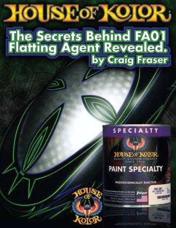 Creating A Flat Finish With Fa01 - House of Kolor