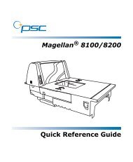Magellan 8100/8200 Quick Reference Guide - Touch Screens Inc.