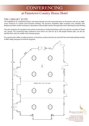 Conference Floor Plans - Finnstown Country House Hotel