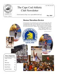 Letters and News - Cape Cod Athletic Club