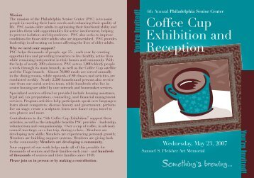 Coffee Cup Exhibition and Reception - Philadelphia Senior Center