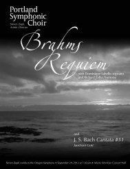 PSC Brahms Program - Portland Symphonic choir