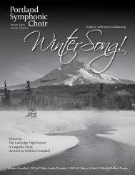 2012 WinterSong program - Portland Symphonic choir