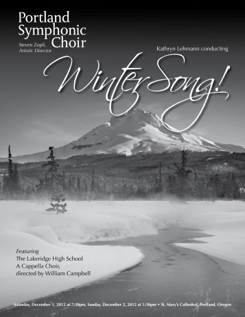 2012 WinterSong program - Portland Symphonic choir