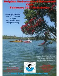 Dolphin Underwater & Adventure Club February 2011 Newsletter