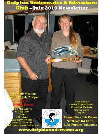 July 2010 Newsletter - DolphinUnderwater.org