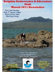 Dolphin Underwater & Adventure Club March 2011 Newsletter