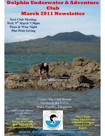 Dolphin Underwater & Adventure Club March 2011 Newsletter