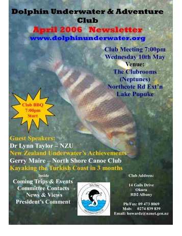 April 2006 Newsletter - DolphinUnderwater.org