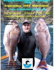 September 2007 Newsletter - DolphinUnderwater.org