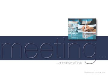 The Best Western Monkbar Hotel, York - Conference Brochure