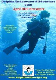 April 2010 Newsletter - DolphinUnderwater.org