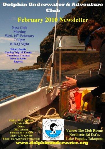 February 2010 Newsletter - DolphinUnderwater.org