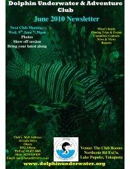 June 2010 Newsletter - DolphinUnderwater.org