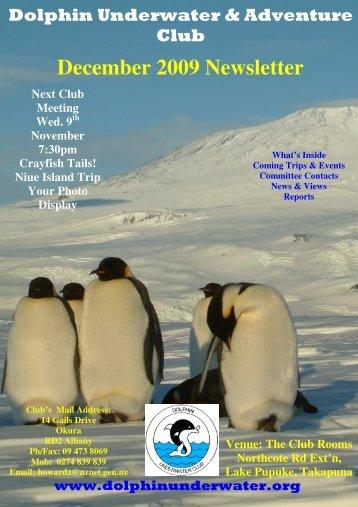 December 2009 Newsletter - DolphinUnderwater.org