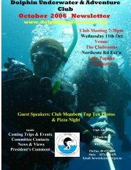 October 2006 Newsletter - DolphinUnderwater.org