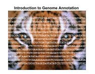 Introduction to Genome Annotation - CPGR