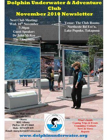 Dolphin Underwater & Adventure Club November 2010 Newsletter