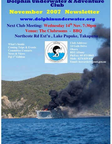 November 2007 Newsletter - DolphinUnderwater.org