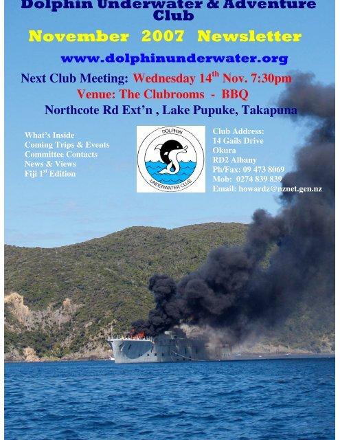 November 2007 Newsletter - DolphinUnderwater.org