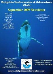 September 2009 Newsletter - DolphinUnderwater.org