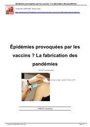 Épidémies provoquées par les vaccins ? La fabrication des ... - Amessi