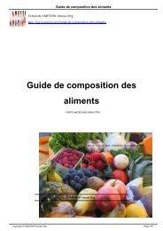 Guide de composition des aliments - AMESSI® Amessi.Org