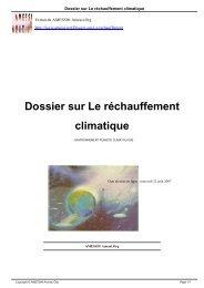 Dossier sur Le réchauffement climatique - AMESSI® Amessi.Org