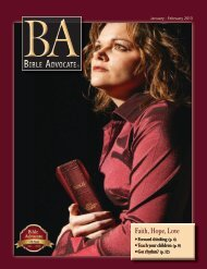 January - February 2013 - The Bible Advocate Online