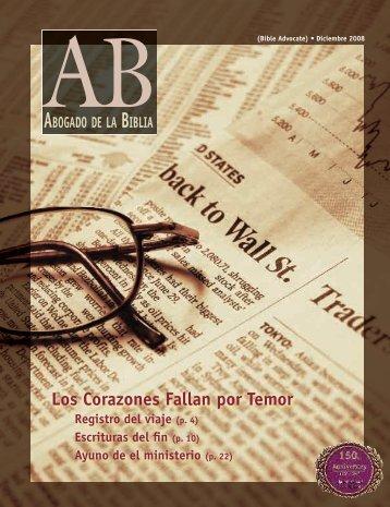 Los Corazones Fallan por Temor - The Bible Advocate Online