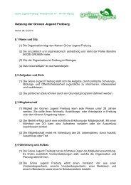 Satzung der Grünen Jugend Freiburg - Grüne Jugend / GHG Freiburg