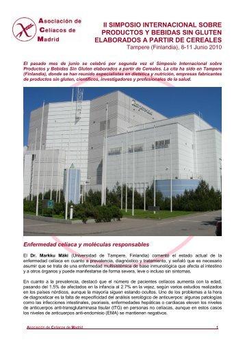 Resumen. - Asociación de Celiacos de Madrid