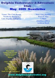 Dolphin Underwater & Adventure Club May 2009 Newsletter
