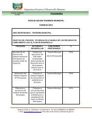 Organización para el Desarrollo Humano - Sitio web del municipio ...