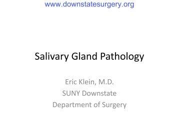 Salivary Gland Pathology - Department of Surgery at SUNY ...