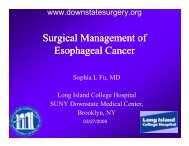 Surgical Management of Esophageal Cancer - Department of ...