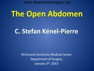 The Open Abdomen - Department of Surgery at SUNY Downstate ...